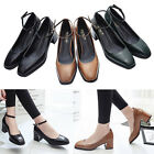 New Womens Court Shoes Fashion Pointed Toe Chunky Heeled Pumps Lady Formal Shoes