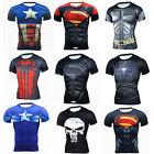 Mens Marvel Superhero Compression T Shirts Gym Sport Dri Fit Short Sleeve Jersey