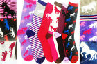 3, 6 or 12 PAIRS LADIES SOCKS DESIGN SOCKS HORSE DESIGN SOCKS FUNKY SOCK LOT 4-7