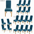 Super Fit Soft Stretch Dinning Chair Cover Slipcovers Seat Cover Protector Blue