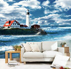 3D Seaside Lighthouse 3719 Wallpaper Decal Dercor Home Kids Nursery Mural Home
