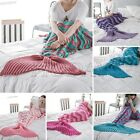 Mermaid Tail Handmade Crocheted Cocoon Sofa Beach Quilt Rug Wave Knit Blanket