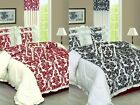 5PCS LUXURY FRILLED QUILTED BED SPREAD FRILLED PILLOW CASES CUSHION COVERS