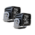 ALL MAKES AND MODELS RIGID 2 FLOOD WHITE LENS DUALLY HD BLACK LED LIGHT