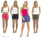 Womens Summer Linen Shorts Ladies Holiday Casual Shorties Sizes 10 12 14 16 18