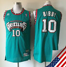 Men NBA Vancouver Grizzlies 10 Mike Bibby Hardwood Classic Sewn Stitched Jersey