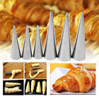 Non-Stick Danish Bread Cannoli Croissant Mold Tubes Decor Puff Cone Baking Tool
