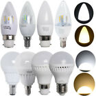 3/6x 5W E27 B22 B15 E14 LED Candle Bulbs Globe Light Lamp Energy Saving 240V /G4