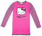 Girls Hello Kitty Sequin Face Long Sleeve Knitted Jumper Dress 3 to 12 Years