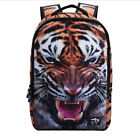 Animals 3D Shoulder Bag Tigers Cool Print Backpack Teenager Pack Men's backpack