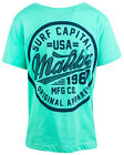 Boys Malibu Surf Capital USA Cotton Summer Fashion T-Shirt Top 8 to 14 Years