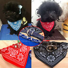 Adjustable Dog Bandana Collar Puppy Pet Cat Neckerchief Neck Scarf Headband NEW