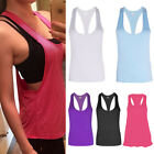 Women Fitness Sports Tank Top Seamless Blouse Stretch Vest G