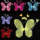 NEW Women Girls Ladies Butterfly Fairy Wings and Wand Set