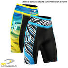 Ladies Sublimated Compression Shorts Base Layer Thermal Sport Jogging Half Tight