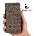 Aztec Brown Luxury Flip Cover Wallet Card  PU Leather Phone Case Stand iPhone