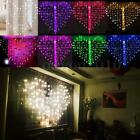 128 LED Heart-Shape Fairy String Curtain Light Valentine's Day Wedding Party QA