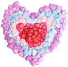 "100pcs Satiny Fabric I LOVE YOU Hearts 1.5"" Table  or Bed Confetti Decorations"