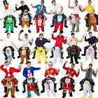 Funny Carry Me Fancy Dress Ride On Fancy Pants Party Mascot Adult  MensCostume