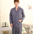 Cotton 2PCs Men's Long Sleeves Sleeping Wear/ Howe Wear/ Pajama Set L/XL/2XL/3XL