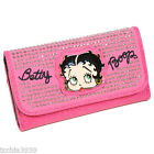 Betty boop embroidered signature micro rhinestone studs checkbook wallet BB490HS $18.98 USD