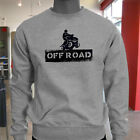 OFF ROAD STENCIL 4X4 DIRT QUAD MOTORBIKE BIKER Mens Gray Sweatshirt