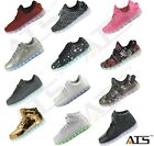 ATS Unisex LED Shoes Breathable Sneakers Light Up Luminous Sportswear Casual