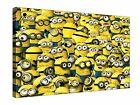 """Minions Despicable Me Animation Kids 30x20"""" Canvas Wall Art Picture Print Framed"""