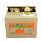Piggy Bank Panda Cat Steal Money Coin Saving Box Pot Case Storage Xmas Kid Gi*X