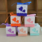 Ribbon Candy Box Packing Wedding Party Favour Birthday Heart Shaped Supplies