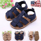 Newborn Baby Boy Girl Summer Sandals Toddler Prewalker Soft Sole Kids Crib Shoes