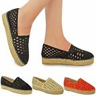 New Womens Ladies Espadrille Summer Sandals Cut Out Platform Shoes Holiday Size
