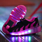 Child Youth LED Light Roller Skates Wheel Shoes Unisex Adult Girls Boys Sneakers