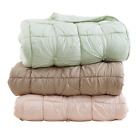 Camille Hand-quilted Quilt and Shams Sets - Blush Pink, Mint or Taupe -Luxurious