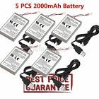 5PCS 2000mAh Rechargeable Battery Pack for Sony Playstation PS4 Controller Cable