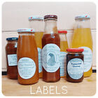 Wedding Jam HONEY Labels sticky STICKERS Rectangular ROUND CIRCLES custom
