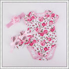 Baby Toddler Infant Girl Headband+Romper+Shoes Kids Girl Outfit Playsuits Clothi
