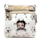 Betty Boop Blink Embroidered flora L Rhinestones satchel bag B14A36 2 COLORS $23.09 USD