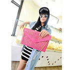 Fashion Women Envelope Clutch Faux Leather Handbag Purse Shoulder Bag Messenger