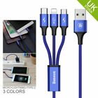 USB To Lightning/Micro/Type-C Fast Charge Cable For iPhone 7 5 6s Android Mobile