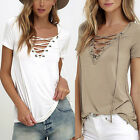 Fashion Lady Womens Loose Pullover T Shirt Short Sleeve Cotton Tops Shirt Blouse