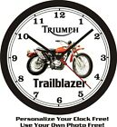 1971 TRIUMPH TRAILBLAZER WALL CLOCK-FREE USA SHIP! $41.99 USD on eBay
