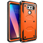 For LG V20 V30 V40 V10 G5 G8 Armor Shockproof Holster Phone Case Cover Accessory
