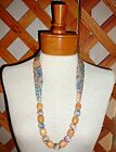 NECKLACES~Fabric & Bead~PAISLEY~ABSTRACT~SWIRL~Reversible~Washable~NEW~FREE SHIP