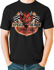Speed Demon Living Fast Devil Hot Rod T Shirt 1950 Retro Small to 6XL Ships Free