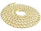 Real 10K Yellow Gold Hollow Cuban Chain / Necklace 1.5MM to 5.5MM