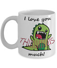 T-Rex I Love You This Much Mug - White