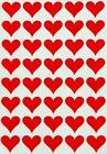 Red Heart Stickers For Envelopes seals Parties Weddings by Royal Green 200 Pack