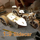 3 Wheeled Motorcycle with Sidecar 3D Puzzle Detail Wooden Model Great Gift