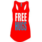 FREE HUGS Women's TANK TOP SHIRT ASSORTED COLORS MUST!! SIZES S-2XL